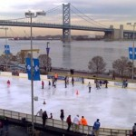 Ice Skating in Philadelphia at the Blue Cross River Rink at Penn's Landing
