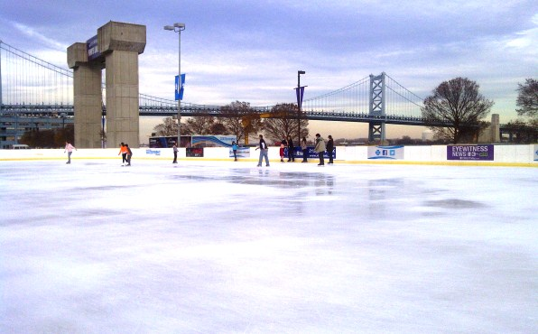 Ice Skating In Philadelphia At Blue Cross River Rink Penns Landing
