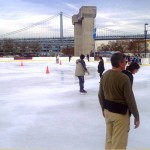 Ice Skating in Philadelphia at Blue Cross River Rink at Penns Landing