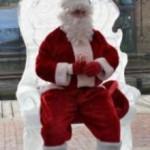 Santa Claus in Manayunk Philadelphia