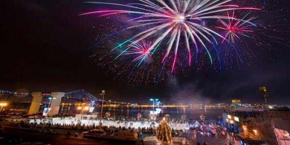Fireworks at Penn's Landing Philadelphia