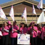 Susan G. Komen Breast Cancer walk in Philadelphia