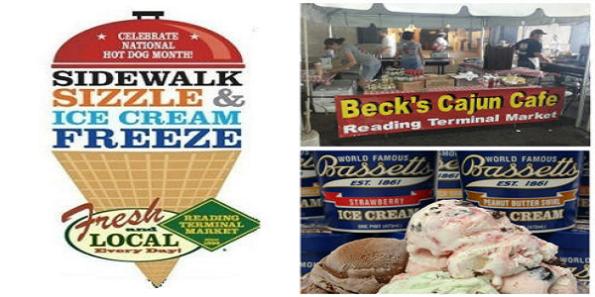 Sidewalk Sizzle & Ice Cream Festival at Reading Terminal Market