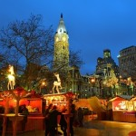 Christmas Village at LOVE Park