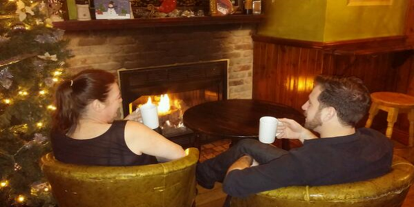 Fireplace Philadelphia  FADO Irish Pub. '