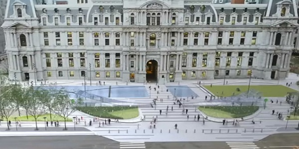 Rendering of a Renovated Dilworth Plark by KieranTimberlake and Olin