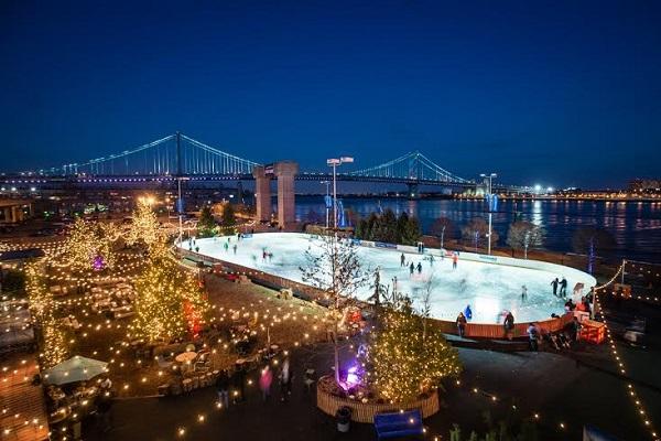 Ice Skating At Penn S Landing Holiday Lights Winterfest