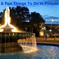 Free and Fun Things to do In Philadelphia ~ Fountain Outside of Philadelphia Museum of Art on the Parkway