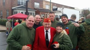 Former Marines & Army with Mahlon Fink survivor of Battle of Iwo Jima