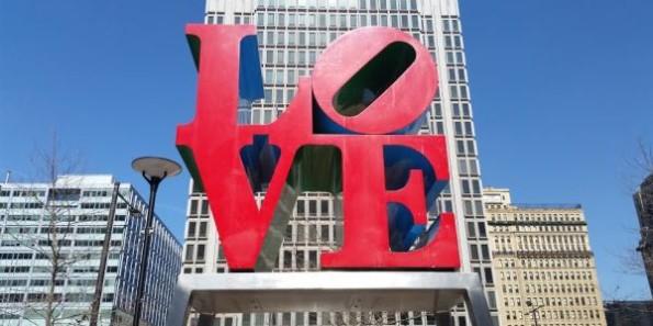 Love Sculpture at Dilworth Park