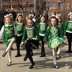 St. Patrick's Day March 17, 2016 at Irish Memorial With Irish Dancers