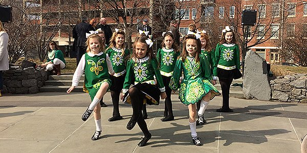 St. Patrick's Day March 17, 2016 at Irish Memorial With Irish Dancers