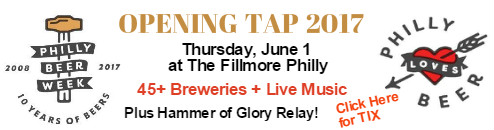 Opening Tap  and Hammer of Glory Relay for Philly Beer Week