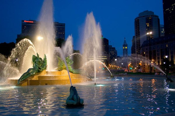 Swann Fountain at Logan Circle