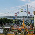 The Midway Ferris Wheel At The Blue Cross RiverRink