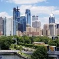 View Of Philadelphia From South Street Bridge