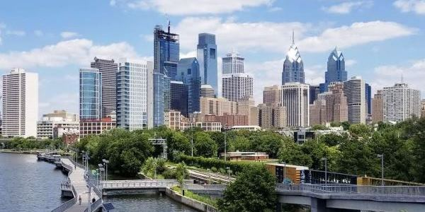 View Of Philadelphia From South Street Bridge