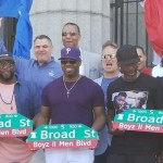 Boyz II Men Street Sign Dedication In Philadelphia
