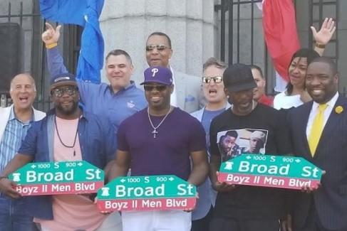 Boyz II Men Street Sign Dedication In Philadelphia