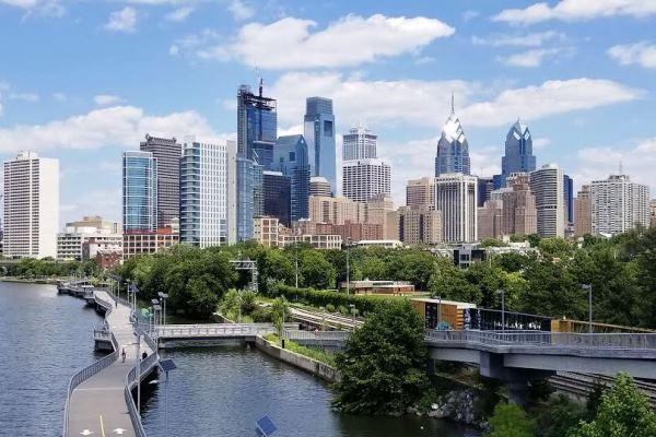 South Street Bridge Overlooking Philadelphia Skyline
