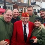 Former Marines, Navy and Army with Mahlon Fink survivor of Battle of Iwo Jima