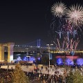 New Year's Eve Fireworks At Blue Cross RiverRink